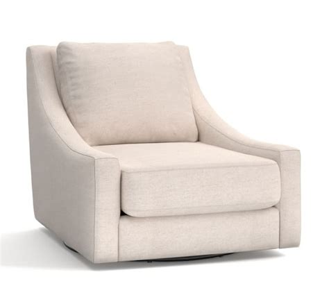 swivel armchairs upholstered aiden upholstered swivel armchair pottery barn