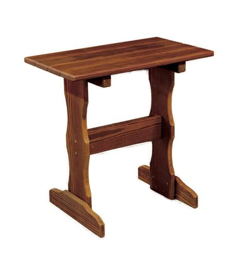 Cedar Wood Tall End Table from DutchCrafters Amish Furniture
