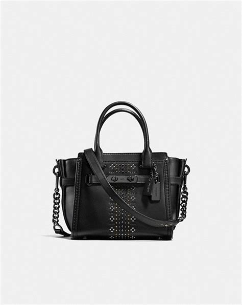 Coach Swagger 21 Platinum 1 coach bandana rivets coach swagger 21 in glovetanned leather