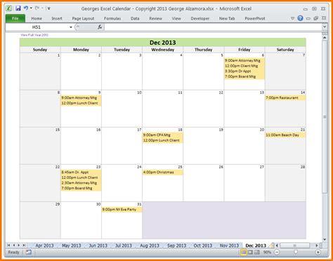 calendar template for excel authorization letter pdf