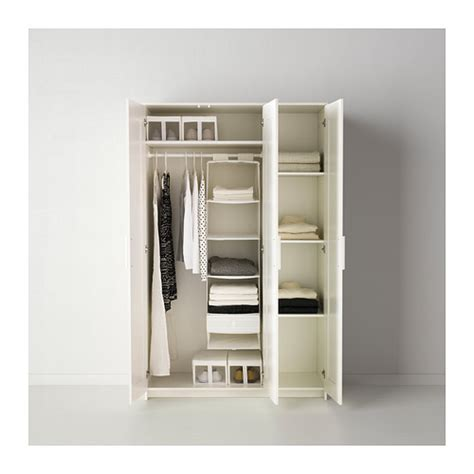 brimnes wardrobe with 3 doors white 117x190 cm