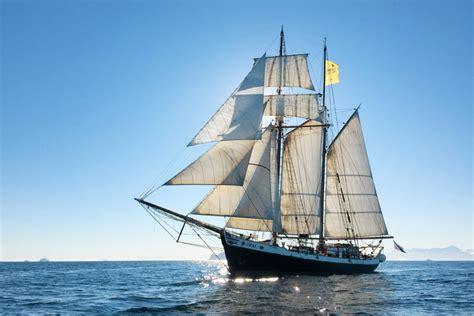 sailing boat with 3 masts schooner opal north sailing