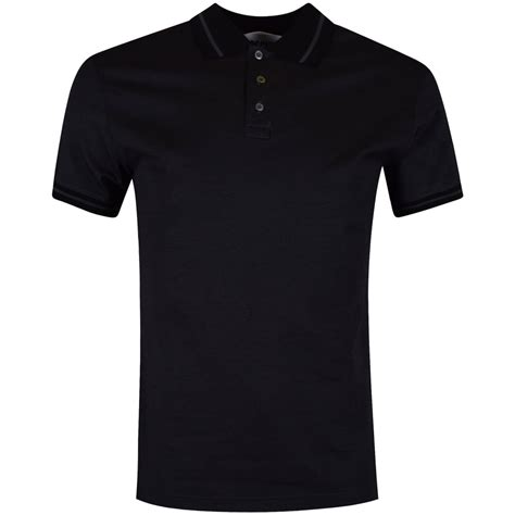 black back moschino moschino grey black back logo polo shirt