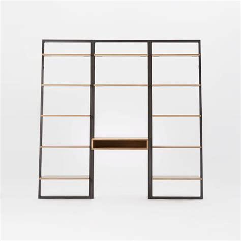 west elm ladder desk ladder shelf desk wide bookshelf set west elm