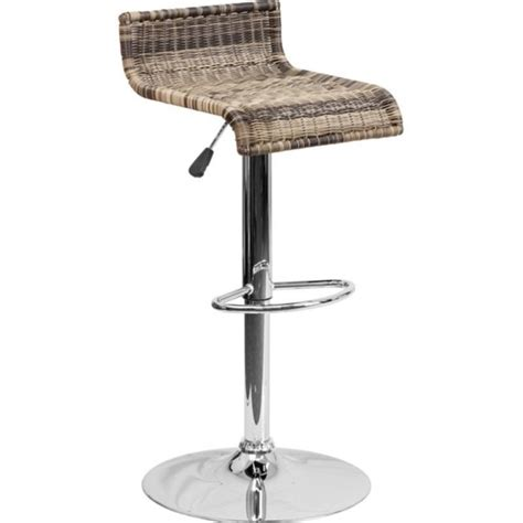 wicker backless adjustable bar stool in brown ds 712 gg