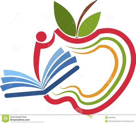 apple education apple education logo stock vector image 40528458
