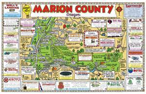 map of marion county oregon maps usa