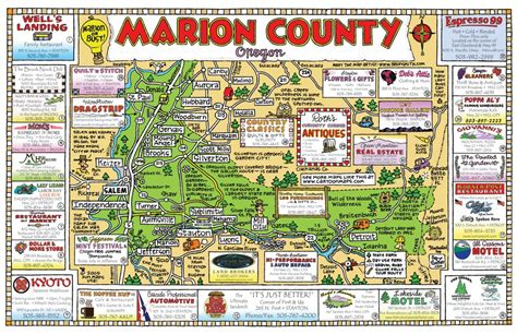 marion county oregon map maps usa