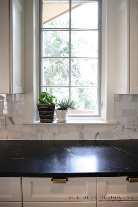 Backsplash With Soapstone Counters Soapstone Countertops Traditional Kitchen M E Beck