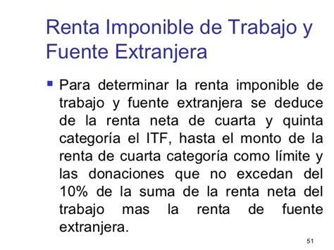 renta de quinta categoria deducible y no deducible 2016 tema 9 determinaci 243 n del impuesto a la renta para las