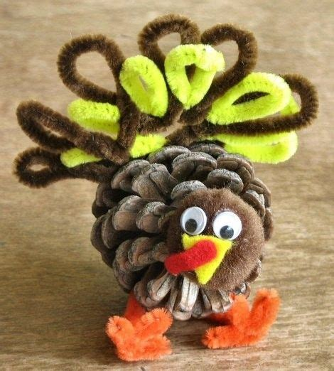 pinecone turkey craft pine cone turkey pine cones