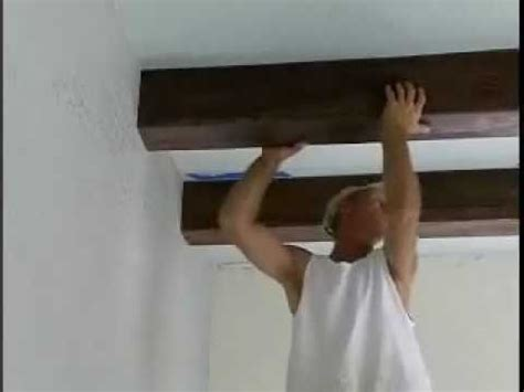 Open Kitchens Designs by How To Install Faux Ceiling Beams Youtube