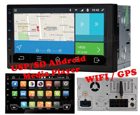 Usb Wifi Android 2din android usb sd multim 233 dia aut 243 r 225 di 243 gps navig 225 ci 243 val