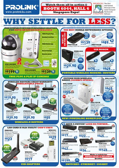 hardwarezone pc themes price list prolink page 1 brochures from pc show 2013 singapore on