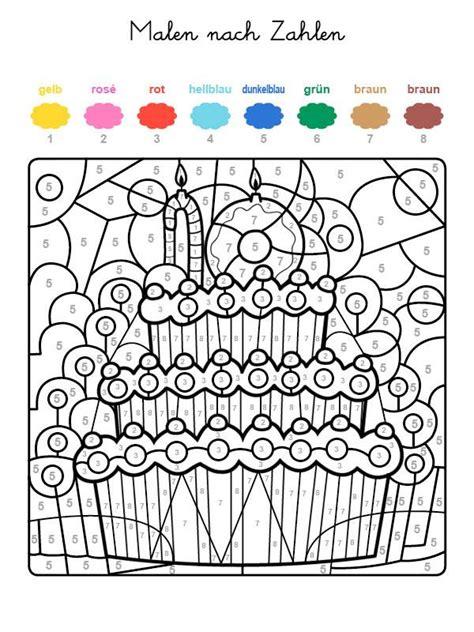 Beste Farben Zum Der Küchen Kabinette Zu Malen kostenlose malvorlage malen nach zahlen torte zum 10