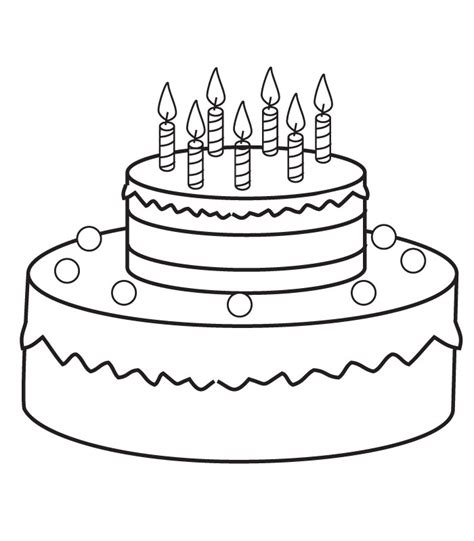 coloring birthday cake