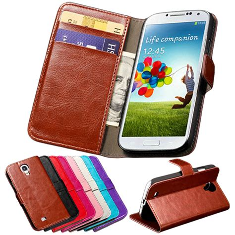New Luxury Wallet Leather Samsung Galaxy S4 Termurah s4 luxury wallet with card holder stand pu leather