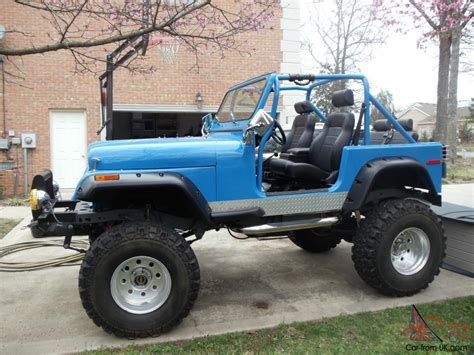 amc jeep cj7 1977 custom amc jeep cj7 with v8 36 quot tires