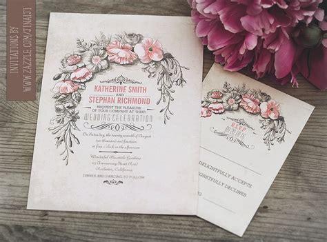vintage san francisco wedding invitations vintage wedding invitation with floral wreath need wedding idea