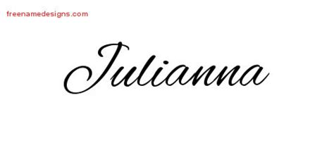 design a name tattoo online free cursive name designs julianna free free