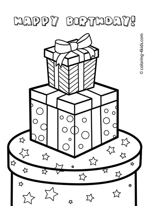printable gift coloring page coloring pages for kids gift boxes and coloring pages on