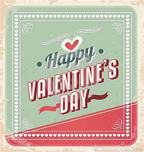 retro valentines day card vector stock image image