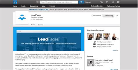 free landing page template how to advertise on linkedin