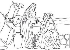 at the well coloring page free coloring pages of isaac and rebekah