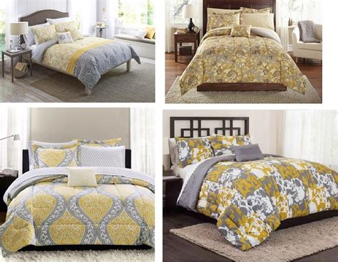 Yellow Grey Bedding Sets All Sizes Yellow Grey Comforter Sets King Bedding Flowers Ebay