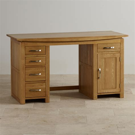 a computer desk solid oak computer desk by oak furniture land