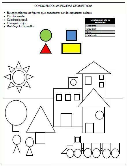 figuras geometricas worksheet conociendo las figuras geom 233 tricas pensamiento