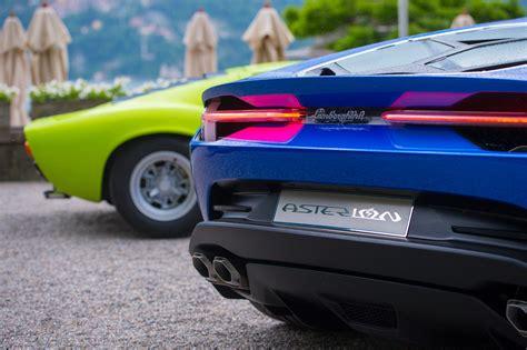 Small Lamborghini Lamborghini Asterion Shows Small Boot Poses Next To Miura
