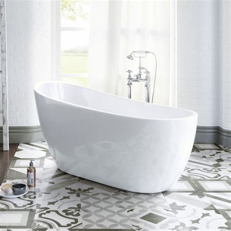 luxury bathtubs freestanding 1520mm luxury freestanding bath modern bathroom gloss