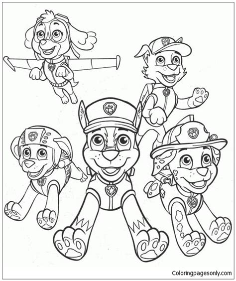 paw patrol characters coloring pages paw patrol characters 4 coloring page free coloring