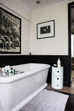 Black Wainscoting Bathroom Traditional Bathroom In Black White With A Sense Of