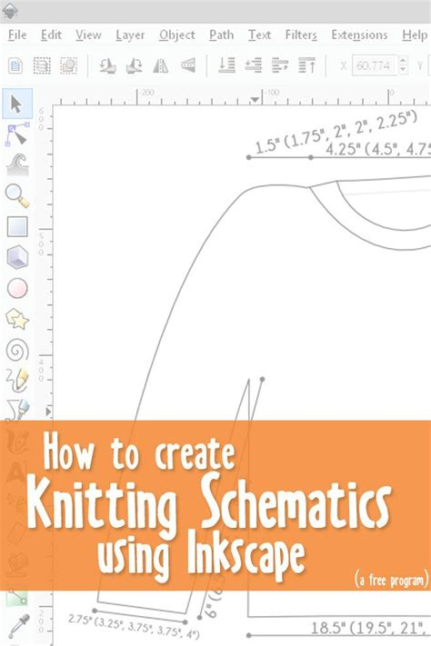 inkscape gauge tutorial how to create knitting schematics with inkscape part 3