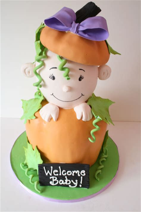 Baby Shower Cakes Nj by Baby Shower Cakes Nj Baby In Pumpkin Custom Cakes