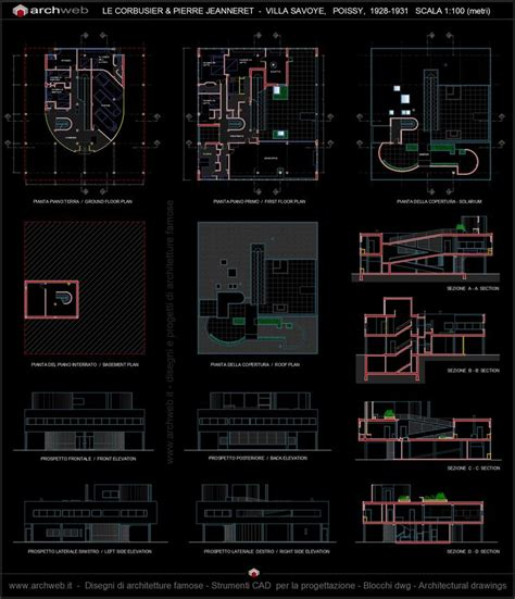 villa savoye floor plans pen by nahekul flickr villa savoye 2d autocad dwg architecture pinterest
