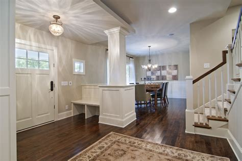 how to create a foyer in an open floor plan entryway dining room traditional entry minneapolis