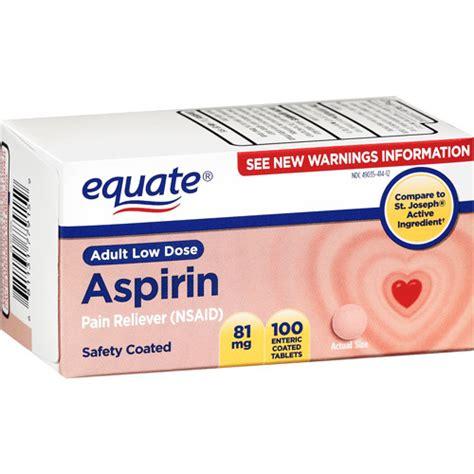 aspirin dose equate low dose aspirin 100ct walmart