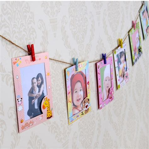 diy cute cardboard picture frame 9 pcs lot 6 inch diy wall hanging cute animal paper photo