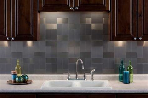 metal tile backsplash ideas stainless steel backsplash a sleek shine for a modern