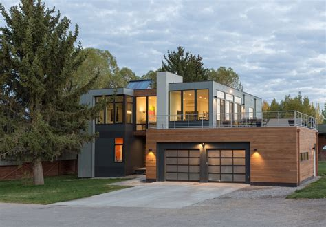 modern contemporary homes a modern prefab home in jackson hole design milk