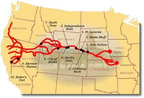 map of oregon trail 1850 california national historic trail american