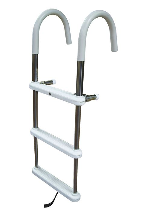 boat ladder 3 step stainless steel gunwale hook ladders dockladdersdepot