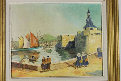 boats for sale france ebay french oil painting canvas harbor sailing boats scene
