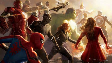 wallpaper avengers infinity war artwork marvel comics