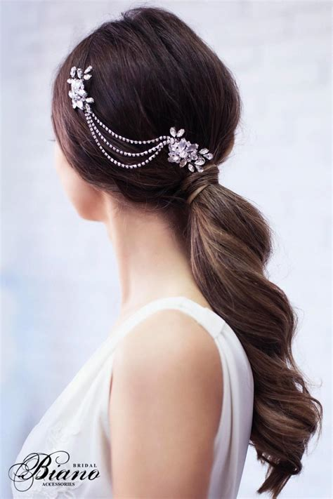 Hairpiece Pesta Hairpiece Headpiece sale bridal headpiece bridal chain headpiece wedding rhinestone comb silver rhinestone