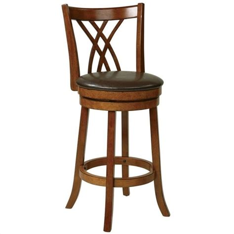 oak wood bar stools office star metro 30 wood swivel oak bar stool ebay