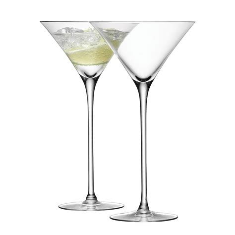 cocktail glass set buy lsa international bar cocktail glasses set of 2 amara